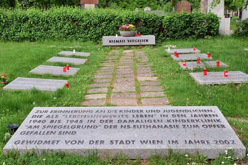 二戰時期,在奧地利維也納「市立兒童精神科診所」遭到安樂死的兒童之墓((Haeferl@Wikipedia / CC BY-SA 3.0))
