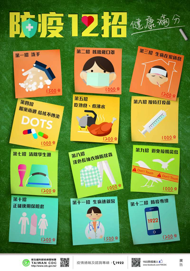 麻疹防疫12招(疾管署)