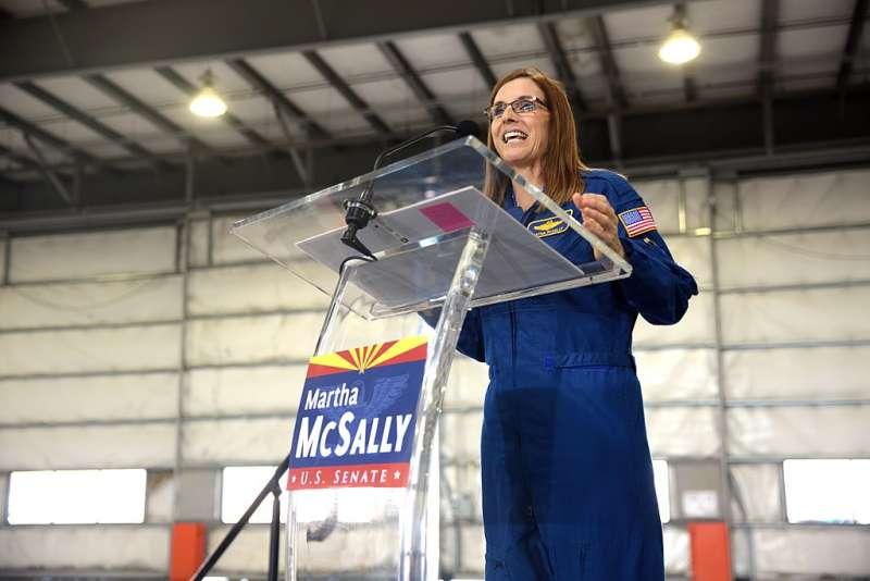 麥克莎莉於今年1月宣布角逐亞利桑那州聯邦參議員的寶座。(Gage Skidmore@wikipedia/CC BY-SA 2.0)