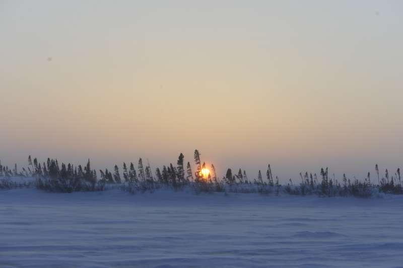 只有這時候才有空注意並拍到北極落日的場景。(圖/時報出版提供)