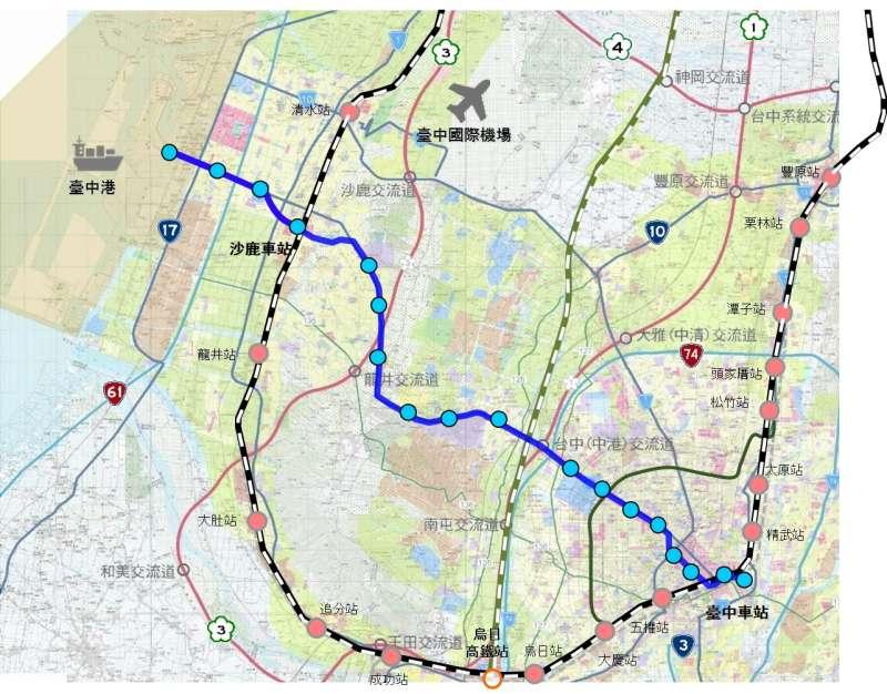 台中捷運藍線可望與捷運綠線在市政府站共站串聯,形成十字路網,加上大台中山手線,將是台中市邁向軌道城市的重要里程碑。(圖/台中市政府提供)