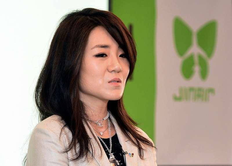 2018年5月1日,大韓航空前高階主管、母公司「韓進集團」總裁趙亮鎬二女兒趙顯玟(AP)