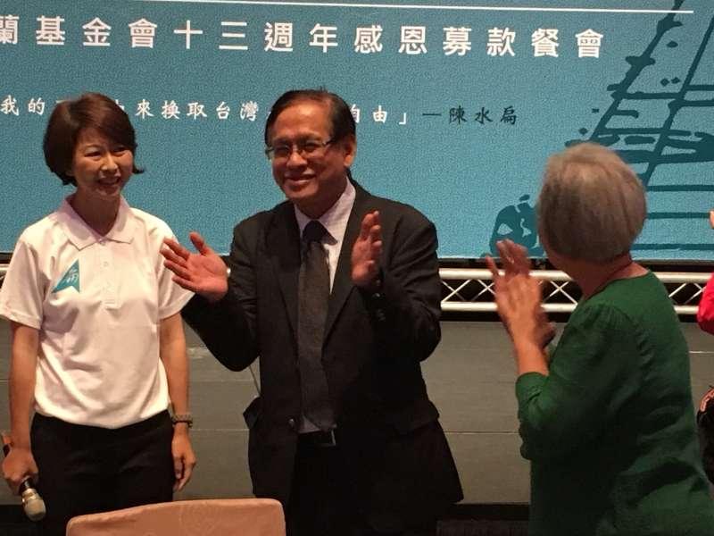 20180504-民視董事長郭倍宏出席凱達格蘭基金會餐會。(顏振凱攝)