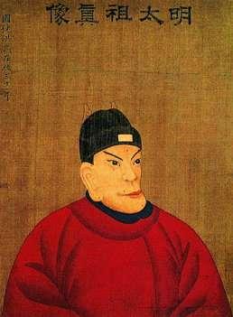 民間流傳的朱元璋畫像。(維基百科)