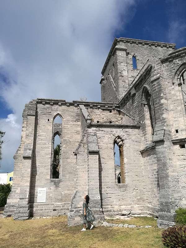 聖喬治古城一處廢棄的教堂。(圖/李遙岑,澎湃新聞提供)