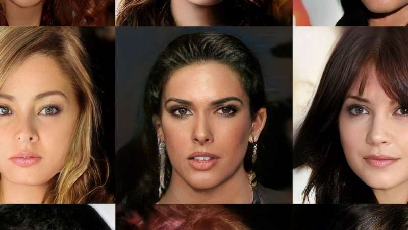 NVIDIA 用人工智慧,生出一張張「名流風肖像」。(圖/智慧機器人網提供)