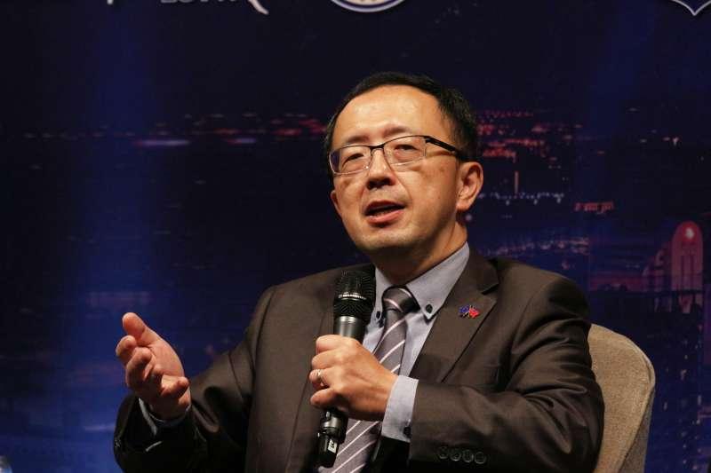 20180509-「臺歐盟關係三十年回顧與前瞻」論壇,台灣歐洲聯盟中心主任蘇宏達發言。(陳韡誌攝)