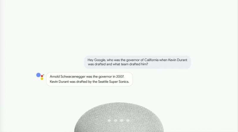 Google Assistant能消化一個句子中的多項問題,並一一給予答案,語句辨識能力再進化。(圖/取自Google I/O)