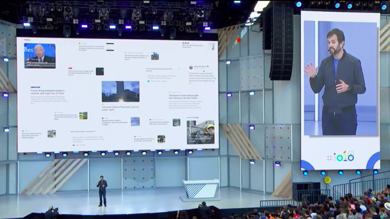 Google News新版App即日起上架給全球用戶。(圖/取自Google I/O)