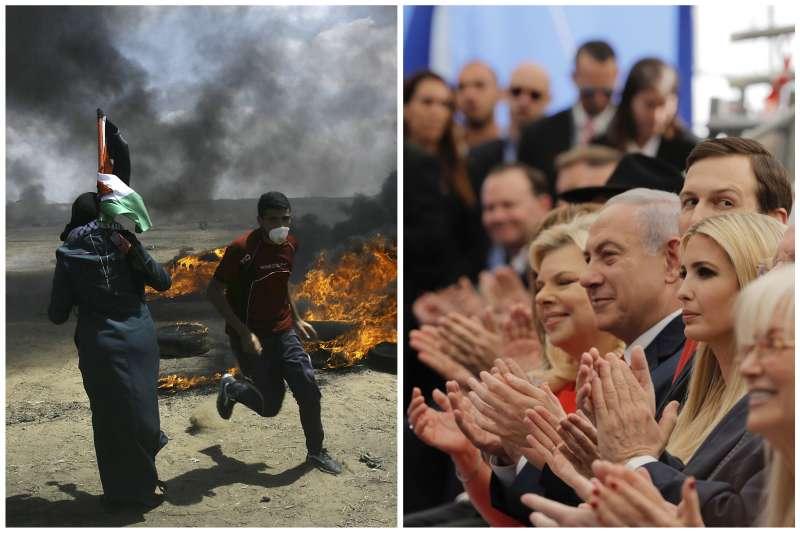 以色列建國70周年:以色列總理納坦雅胡慶祝美國大使館搬到耶路撒冷,同時間加薩走廊正遭受以軍鎮壓(AP)