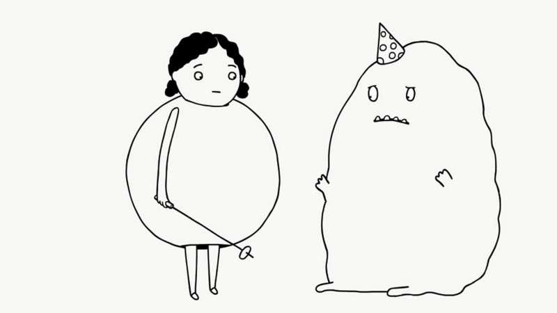 「長(tn̂g)短(té)咖電影院」-德國動畫短片集【咚滋!咚滋!扭扭扭~】中的可愛角色。(圖/高雄電影館提供)
