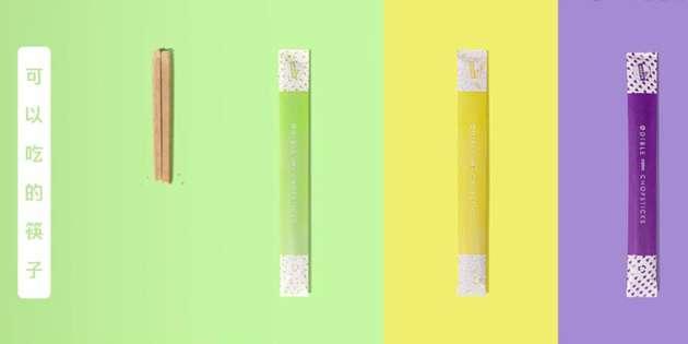 可食用筷子。(圖/截自騰訊視頻)