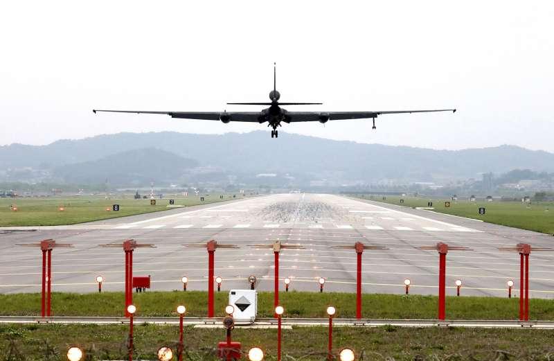2018韓美聯合軍演「超級雷霆」,美軍U-2高空偵察機(AP)