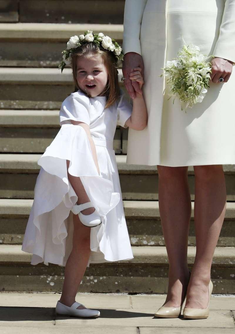 哈利王子的可愛姪女夏綠蒂公主擔任小伴娘(美聯社)