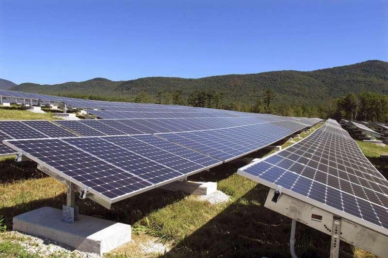 太陽能板,潔淨能源,再生能源。(美聯社)