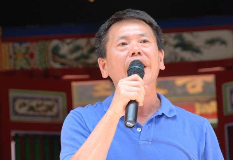 林為洲呼籲國民黨中央應儘速辦理全民調,決定新竹縣長提名人選。(圖/新竹縣林姓宗親會提供)