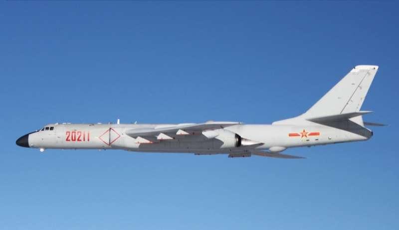 中國人民解放軍轟-6K遠程轟炸機(圖/@wiki)