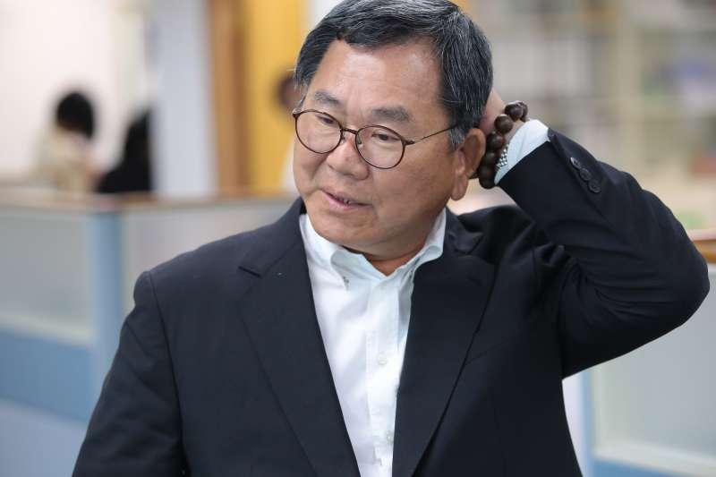 20180523-民進黨立委陳明文23日出席中常會。(顏麟宇攝)