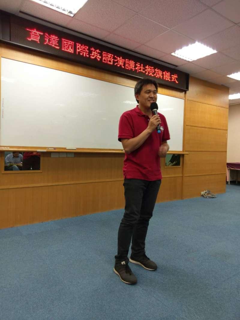 今年度台灣Toastmasters演講比賽冠軍洪昆山大使前來助陣。(圖/育達科大提供)