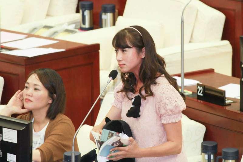 DV台北市議會質詢,圖為市議員許淑華。(方炳超攝)..JPG