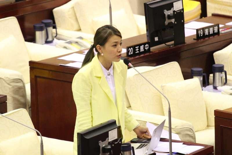 20180529-台北市議會總質詢,市議員顏若芳發言。(陳韡誌攝)