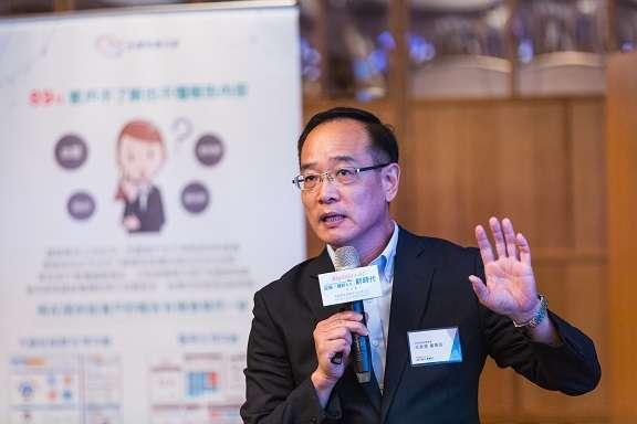 王欽堂以「互聯網+健診 開創共享經濟新時代」主題,與健診同業分享健診3.0的未來發展。