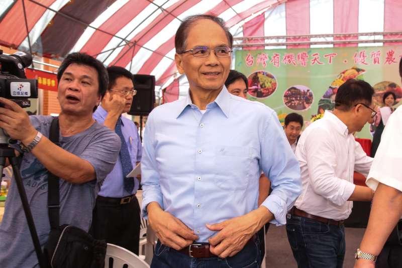 20180529-前行政院長游錫堃29日出席「台灣有機響天下,優質農業向前行」記者會。(顏麟宇攝)