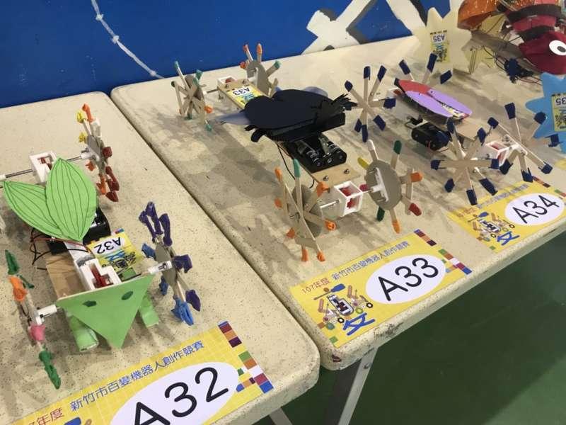 竹市百變機器人國小組主題是蟲蟲危機,國小Maker的作品令人驚艷。(圖/新竹市政府提供)