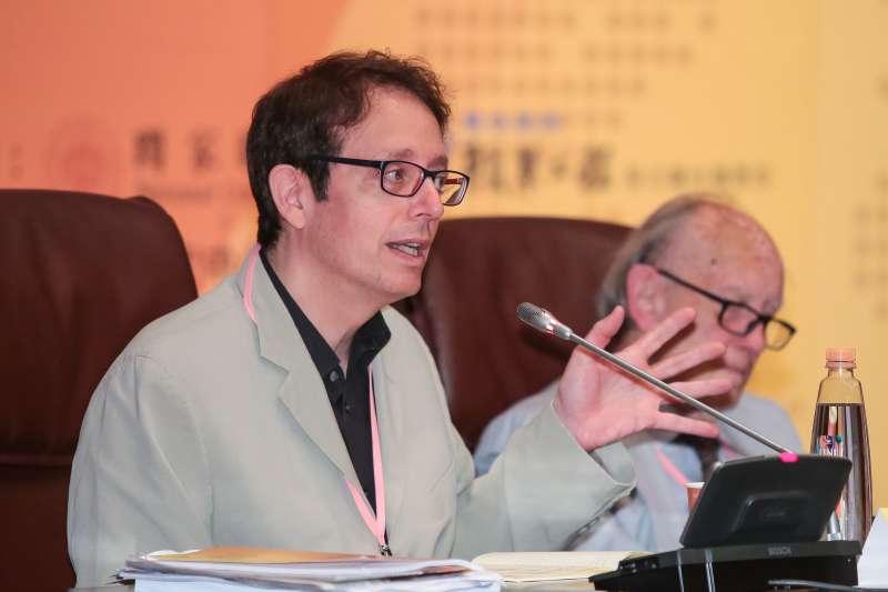 20180602-北京清華大學政治與公共行政學系主任貝淡寧(Daniel Bell)2日出席「從西方中心到後西方世界:21世紀新興全球秩序之探索」國際學術研討會。(顏麟宇攝)