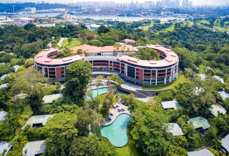 川金會地點,新加坡聖淘沙島嘉佩樂酒店(Ryanjbrown91@Wikipedia / CC BY-SA 4.0)