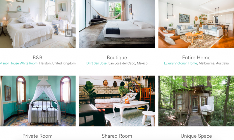 多元房源是Airbnb的重要競爭力指標。(圖/Airbnb)