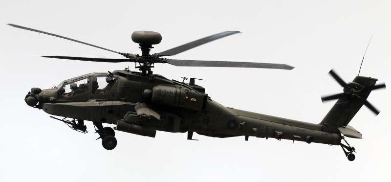 20180607-漢光34號演習,陸航AH-64E阿帕契攻擊直升機。(蘇仲泓攝)