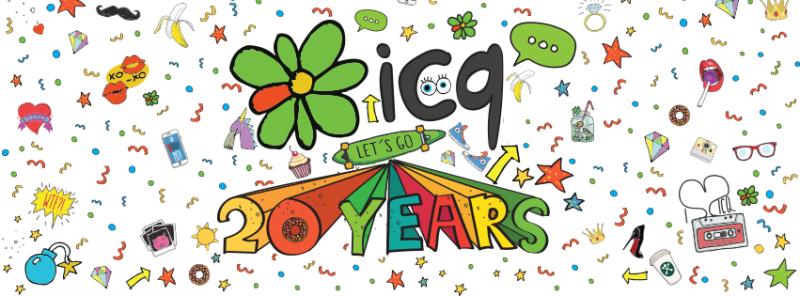 ICQ也在2016年慶祝問世20周年。(圖/取自ICQ Facebook)