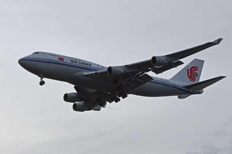 2018年6月12日川金會,北韓最高領導人金正恩往返新加坡的中國國航專機(AP)