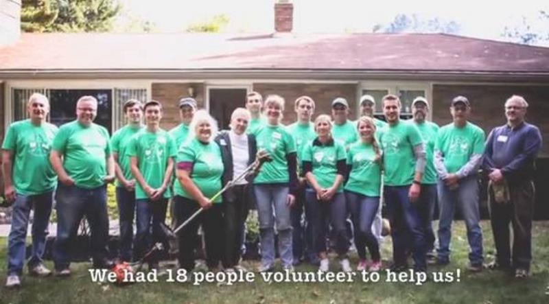 十八個志願者樂意支援他們。(視頻截圖)