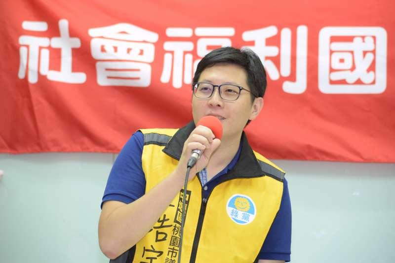 20180619-社會福利國家連線成立記者會,綠黨召集人王浩宇。(甘岱民攝)