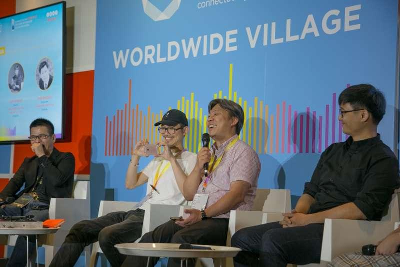 陳鎮宏在論壇時間和現場互動交流(圖/大京藝術提供)