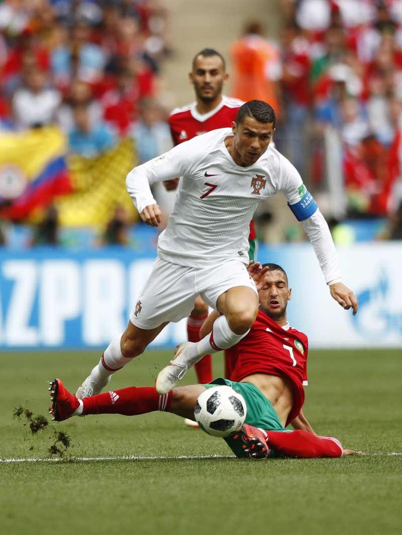 20180620_世足,C羅(7號),Cristiano Ronaldo,葡萄牙vs.摩洛哥。(美聯社)
