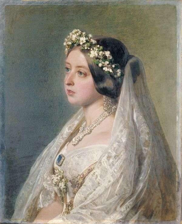 維多利亞女王婚紗畫像。(圖/Wikimedia Commons,*CUP提供)