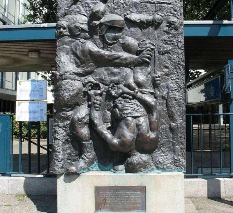 紀念本諾·歐內索格的雕像「示威者之死」。( Lorem ipsum 維基百科)