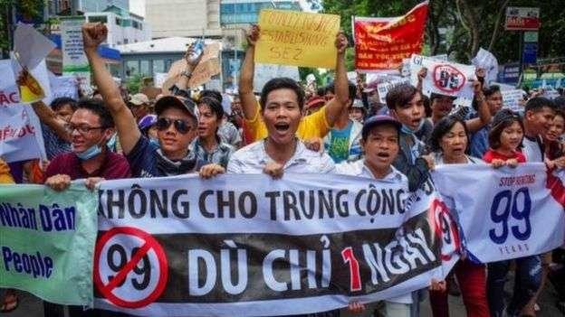 胡志明市的抗議者表示他們將再次舉行示威。(BBC中文網)