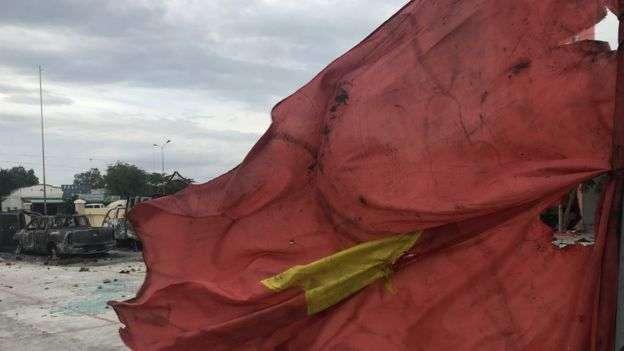越南針對經濟特區法案的示威,在個別省份演變成大規模騷亂。(BBC中文網)