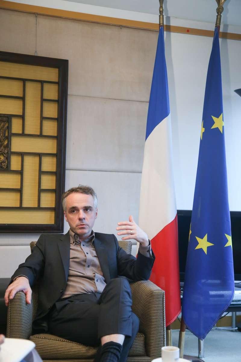 20180621-法國駐台代表紀博偉專訪。(陳明仁攝)
