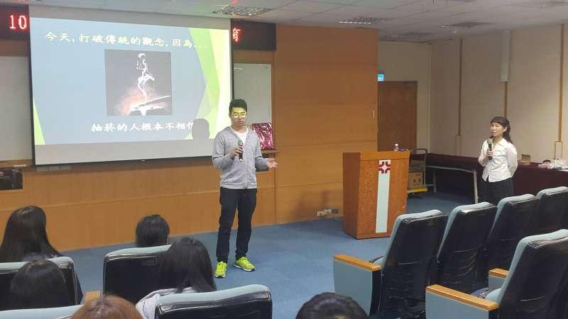 育達科大今(107)年3至6月份舉辦4場菸毒害宣教講座,學生對菸害造成的影響進行心得分享。(圖/育達科大提供)