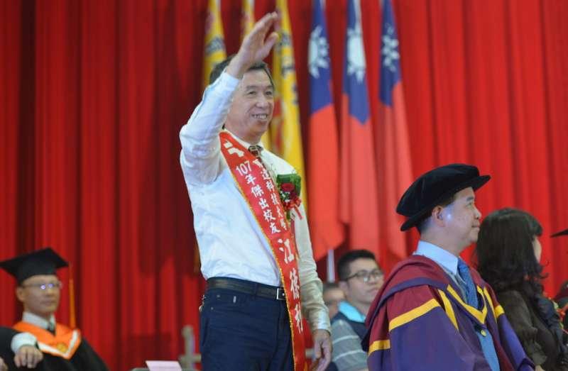 泰安觀止董事長江德利出席育達科技大學畢業典禮。(圖/育達科大提供)