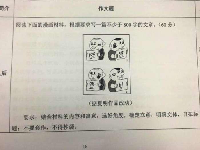2016年中國全國卷高考(大學)作文題,不知道考場上的學子面對此題作何感想。