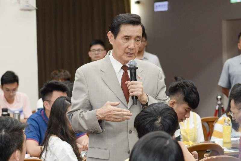 20180630-第三屆國會青年體驗營《青島東很多派對》,馬英九擔任講師回答學生提問。(甘岱民攝)