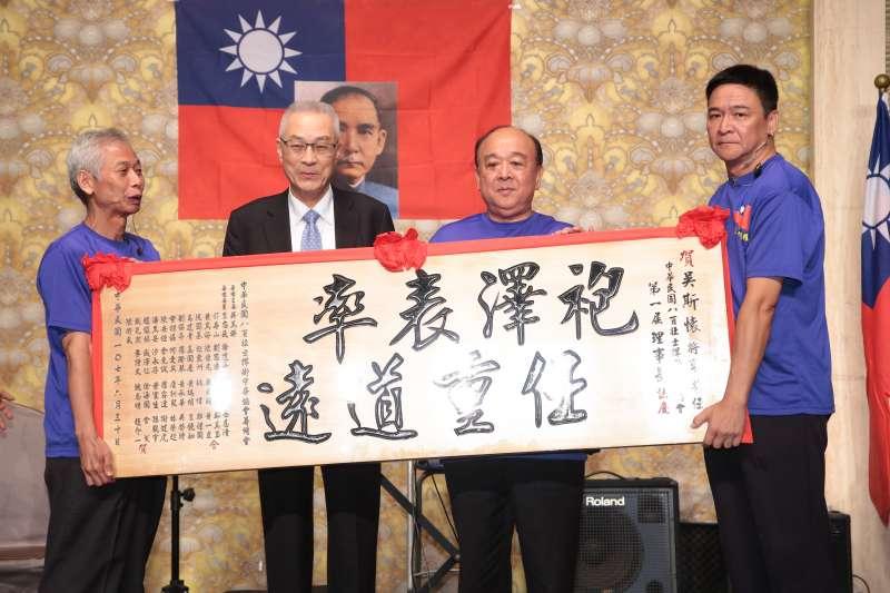 20180630-國民黨主席吳敦義、退役將領吳斯懷30日出席中華民國八百壯士捍衛中華協會成立大會。(顏麟宇攝)