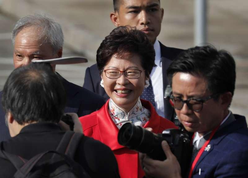 香港首位女特首林鄭月娥上任一周年。(美聯社)