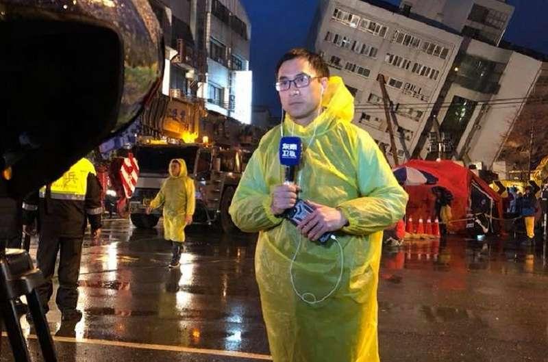 陸媒記者葉青林在花蓮震災期間,因為報導日本救災隊員不肯進入災難現場,被陸委會聯席審查會認為是「假新聞」,駁回他再次駐點申請。(取自葉青林臉書)